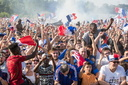 finale de la coupe du monde de football 2018 à la fan-zone de la Gloriette à Tours